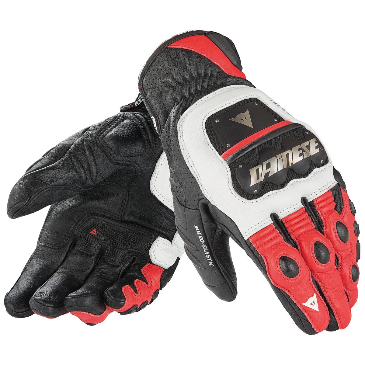 Dainese Men's 4 Stroke Evo White/Red/Black Gloves