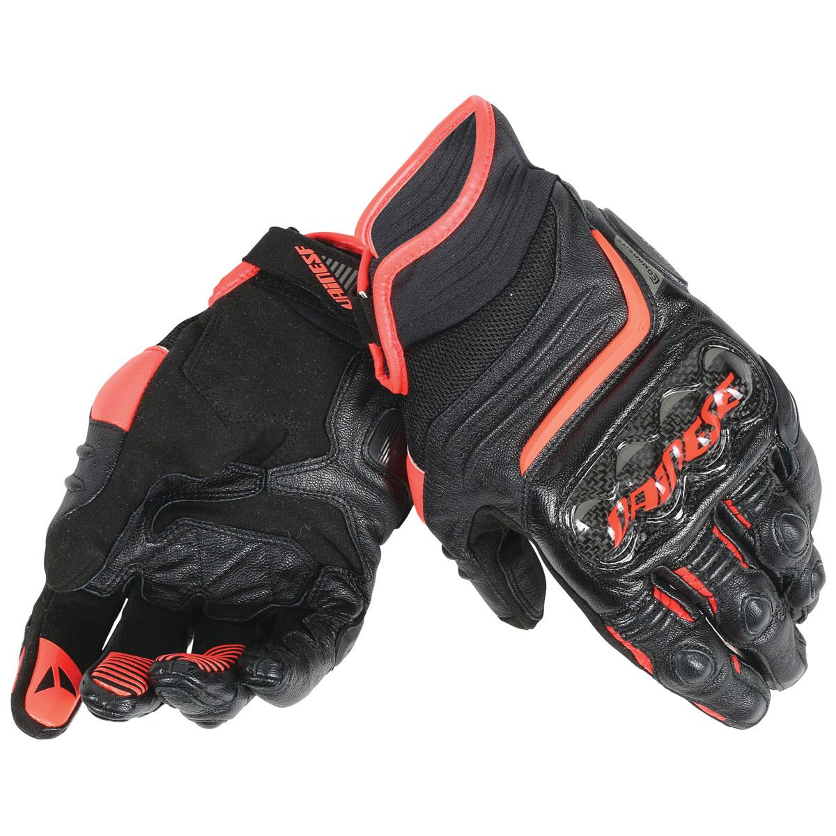 Dainese Men's Carbon D1 Short Black/Fluo Red Gloves