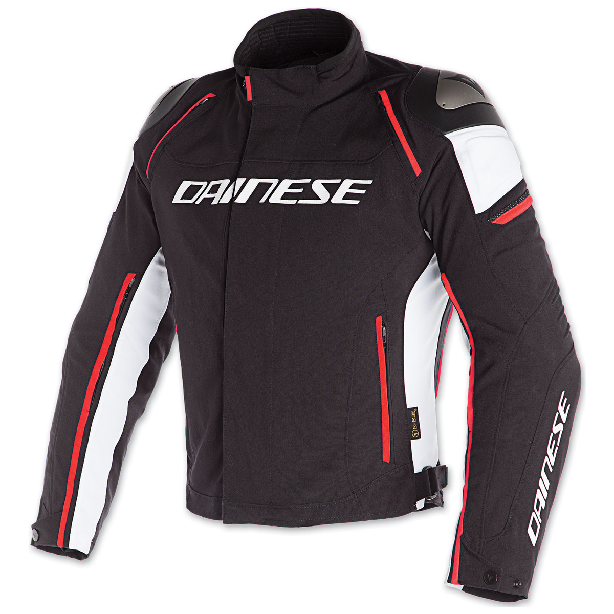 Dainese Men's Racing 3 D-Dry Black/White/Fluo Red Jacket