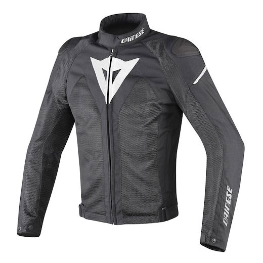Dainese Men's Hyper Flux D-Dry Black/Black/White Jacket