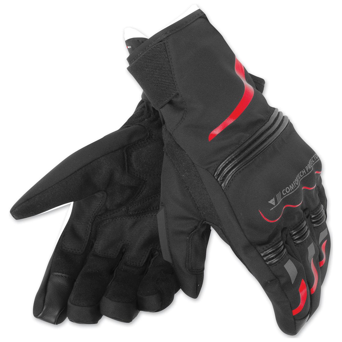 Dainese Unisex Tempest D-Dry Short Black/Red Gloves