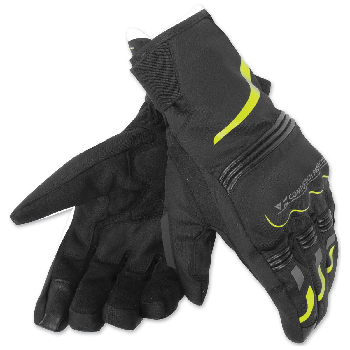 Dainese Unisex Tempest D-Dry Short Black/Fluo Yellow Gloves