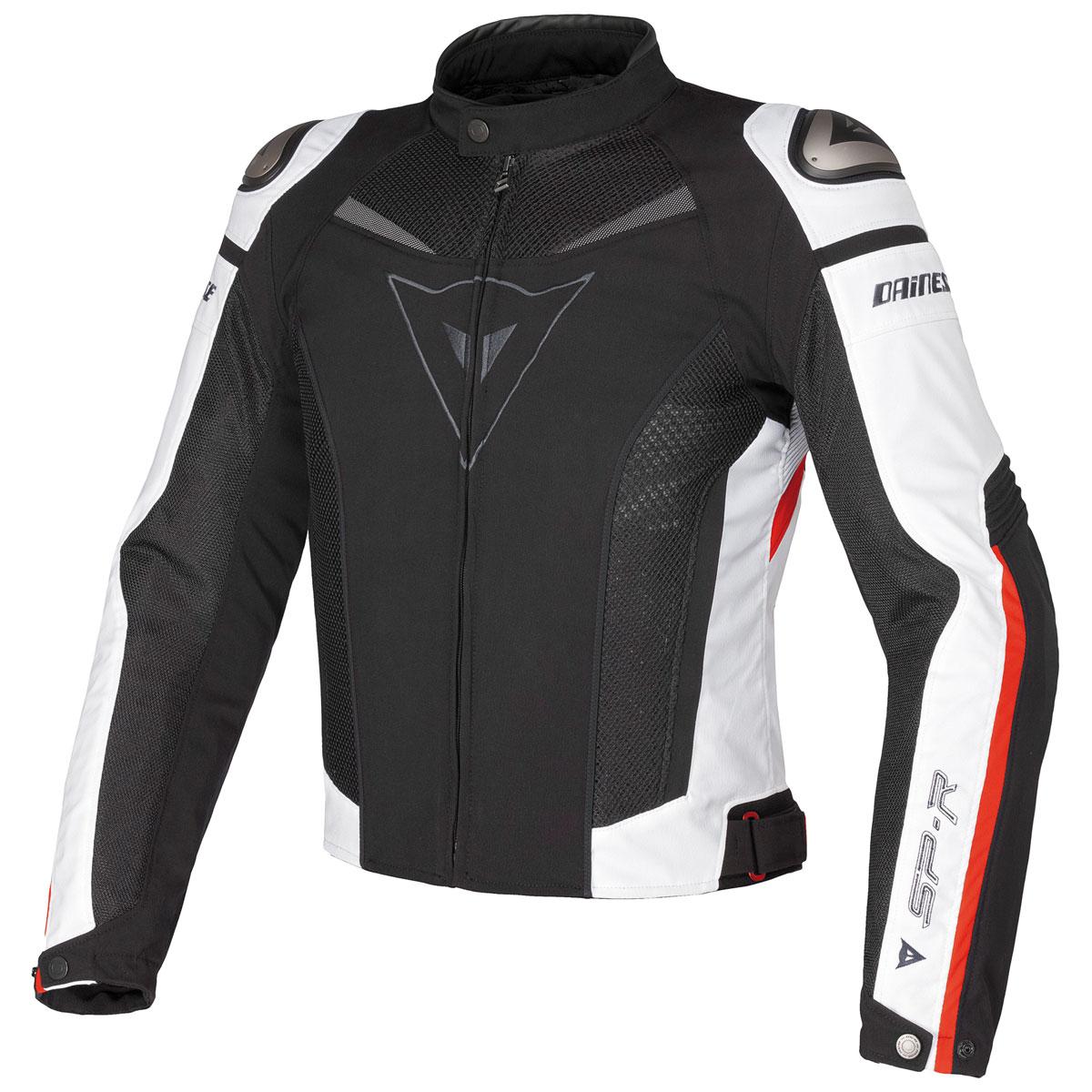 Dainese Men's Super Speed Black/White/Red Textile Jacket