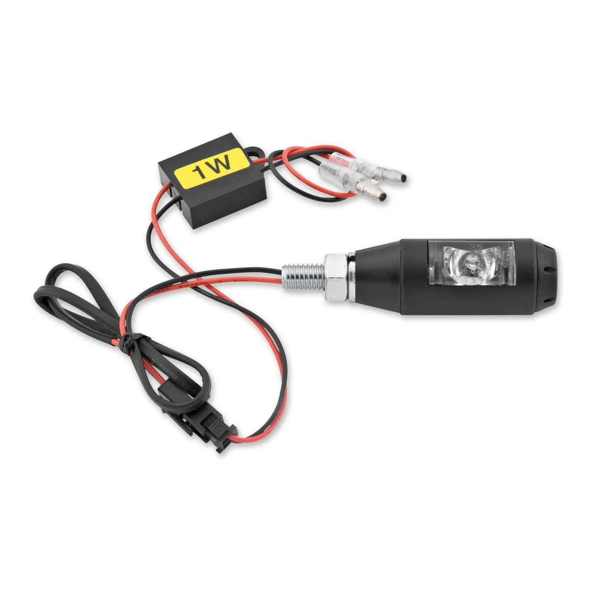 BikeMaster Matte Black Snubnose Turn Signals with Resistors