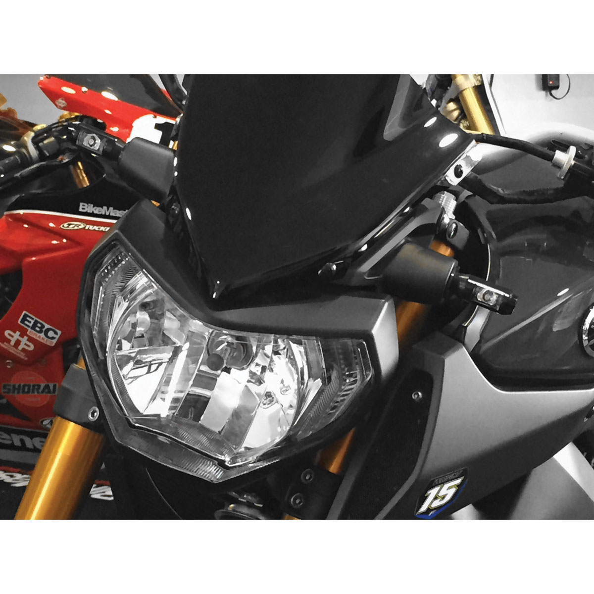 BikeMaster Gloss Black Snubnose Turn Signals with Resistors