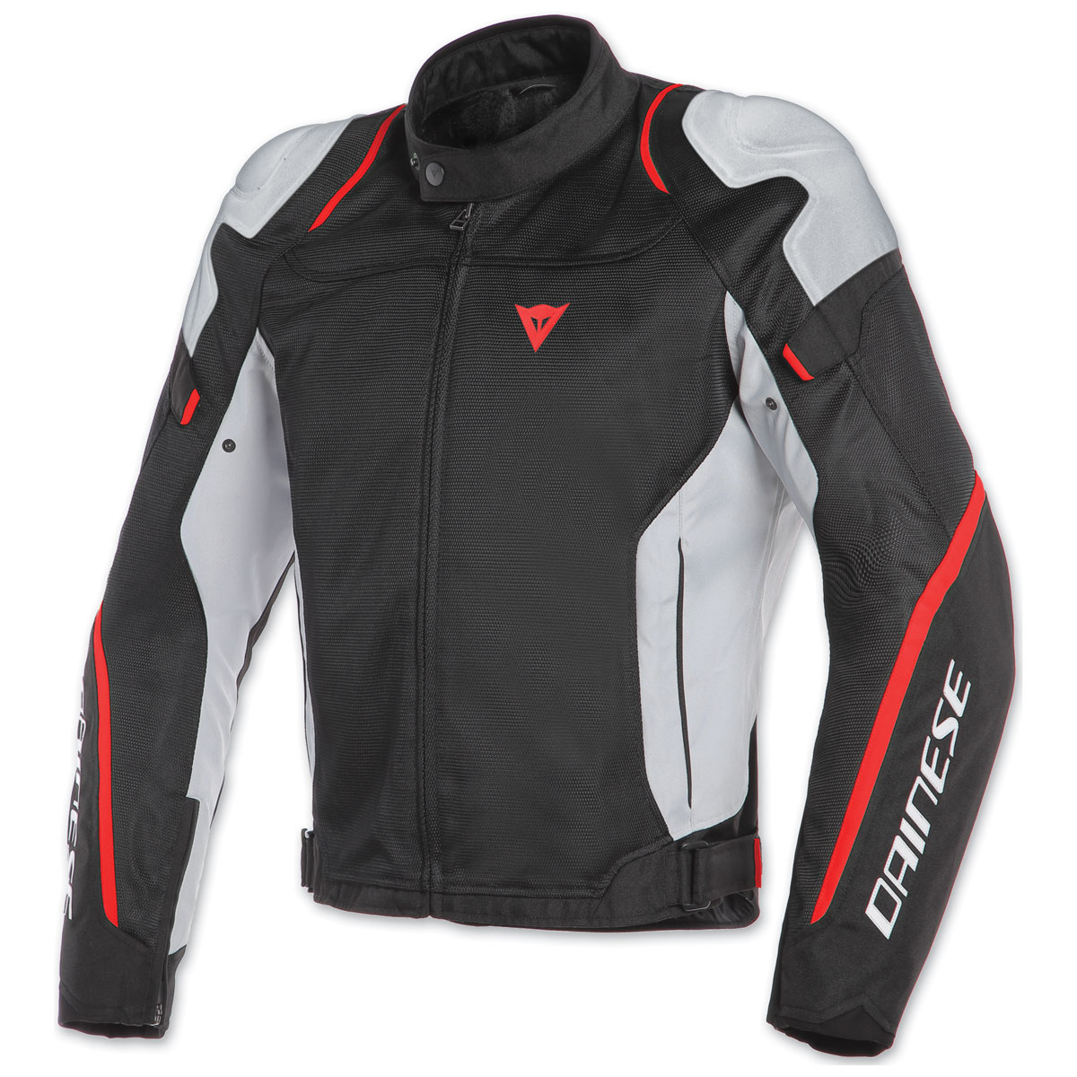 Dainese Men's Air Master Black/Glacier-Gray/Fluo-Red Textile Jacket