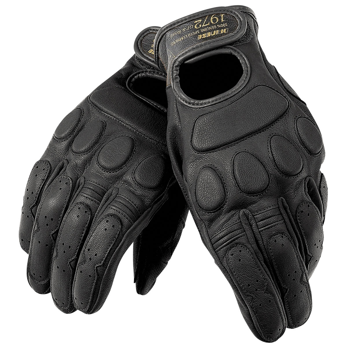 Dainese Unisex Blackjack Black Leather Gloves
