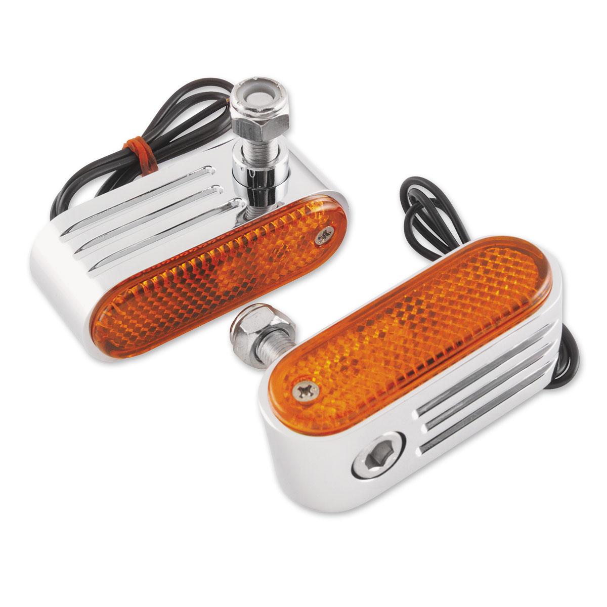 BikeMaster Chrome Amber Marker Lights