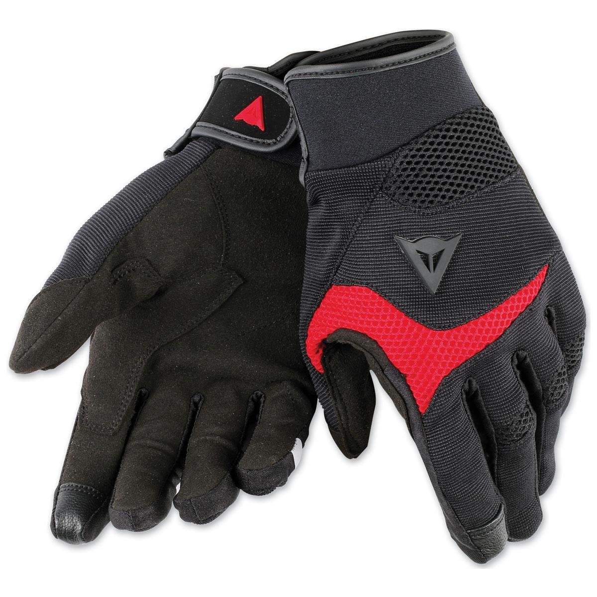 Dainese Unisex Desert Poon D1 Black/Red Gloves