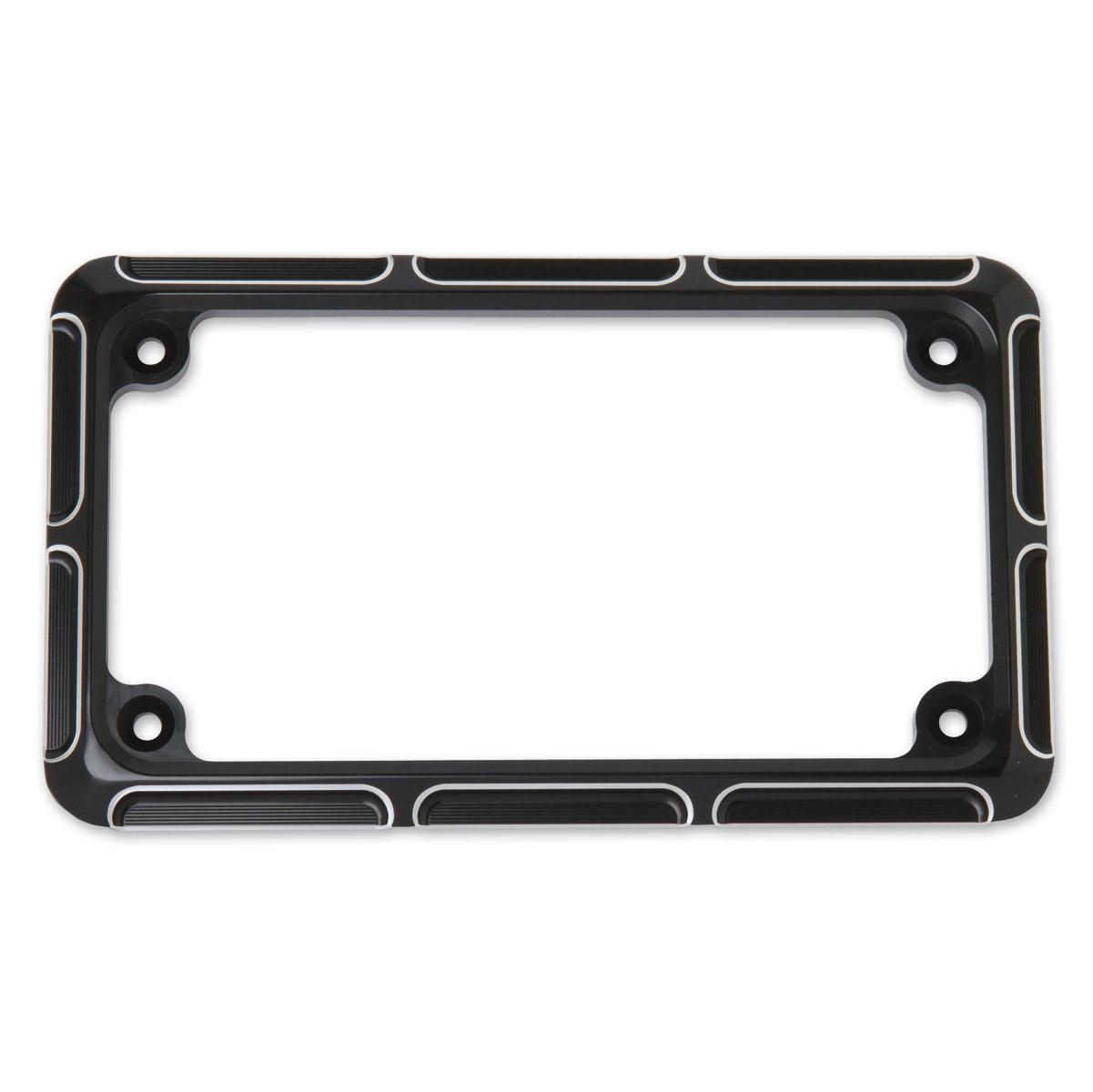 Arlen Ness Beveled Black License Plate Frame