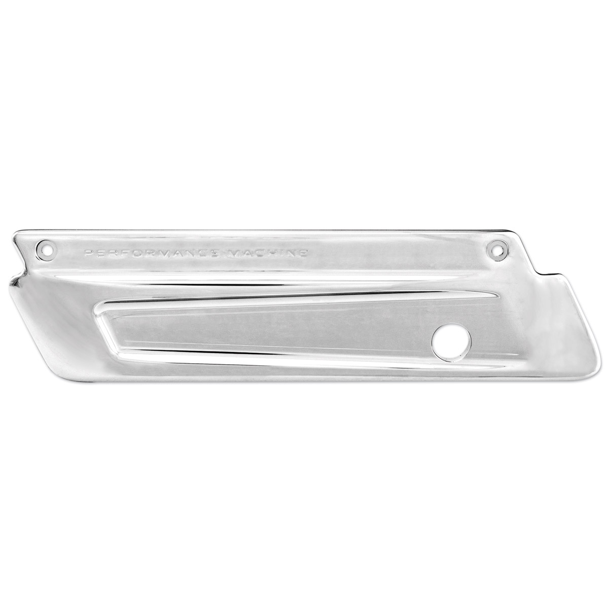 Performance Machine Chrome Scalloped Saddlebag Latch Cover