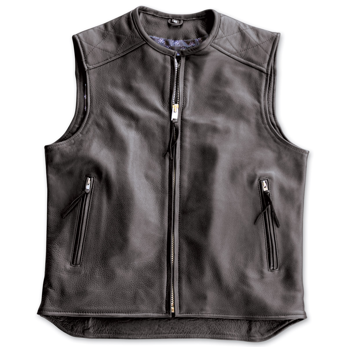 Crank & Stroker Supply Hardball Motorcycle Black Leather Vest