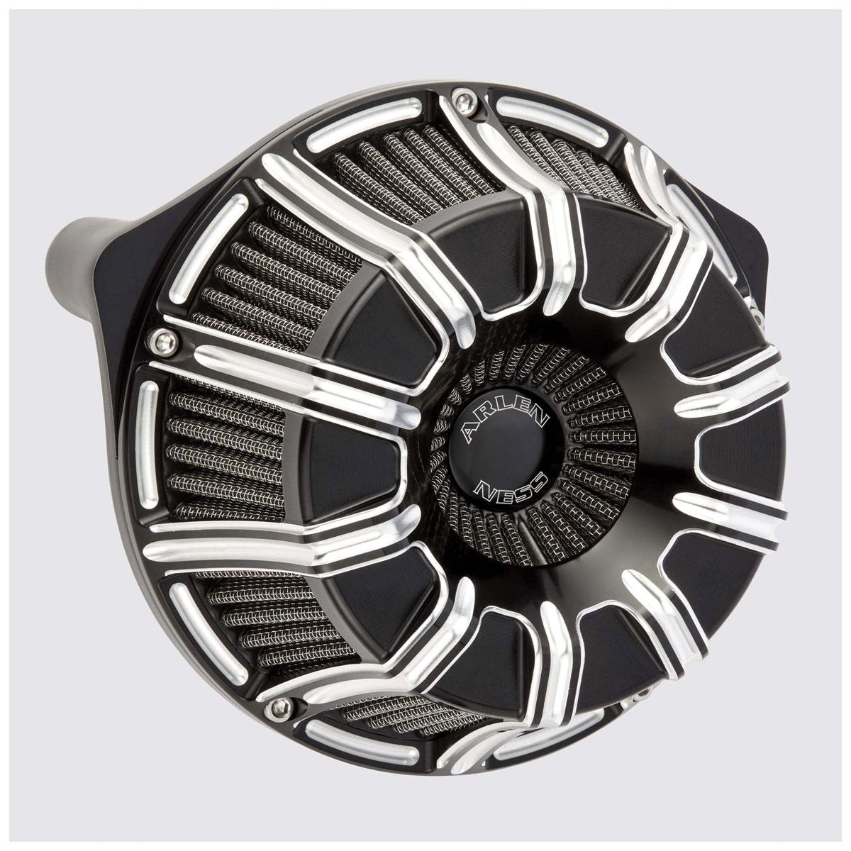Arlen Ness Inverted Series 10-Gauge Black Air Cleaner Kit