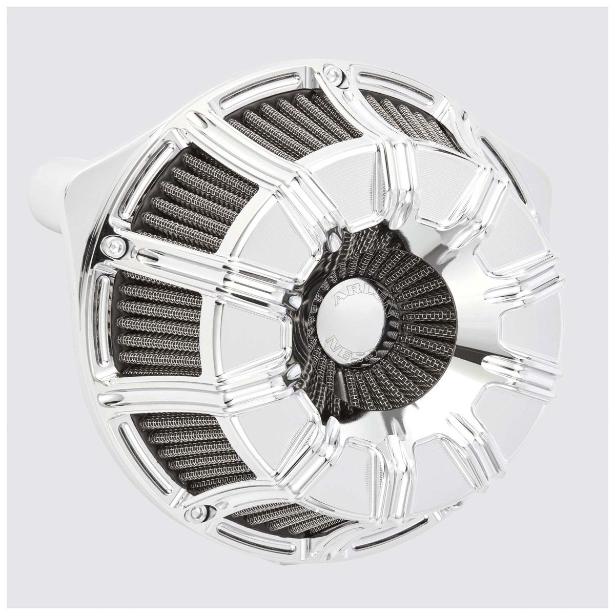 Arlen Ness Inverted Series 10-Gauge Chrome Air Cleaner Kit
