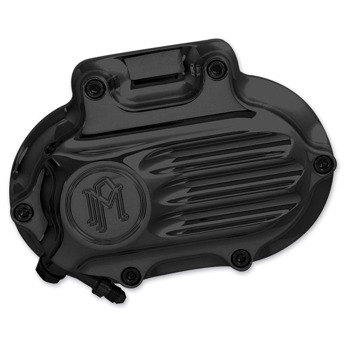 Performance Machine Fluted Clutch Release Cover Black Ano