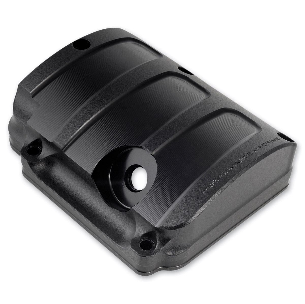 Performance Machine Scallop Transmission Top Cover Black Ops
