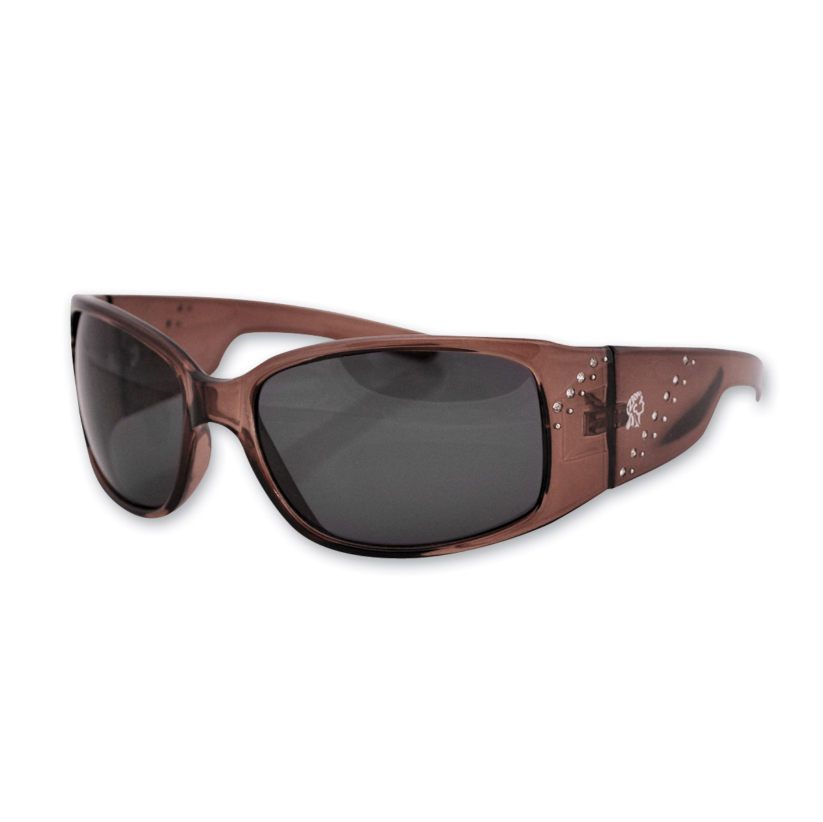 ZAN headgear Boise Crystal Brown Sunglasses with Smoked Lenses