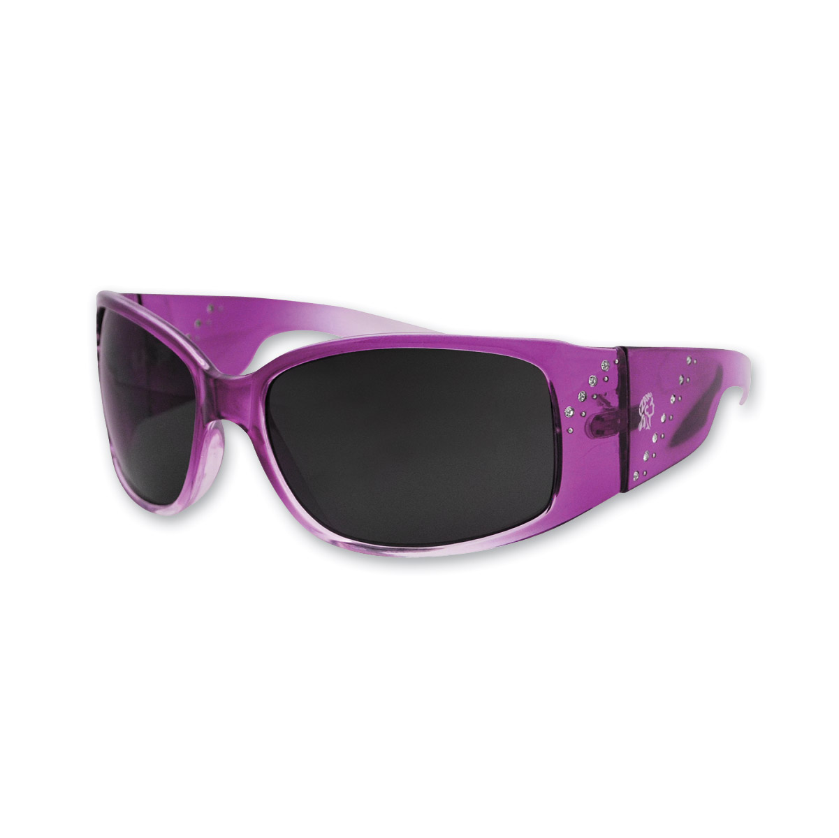ZAN headgear Boise Crystal Purple Sunglasses with Smoked Lenses