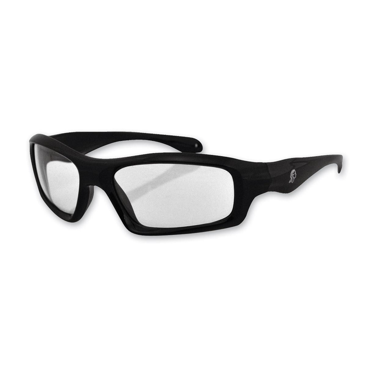 ZAN headgear Seattle Matte Black Sunglasses with Clear Lenses