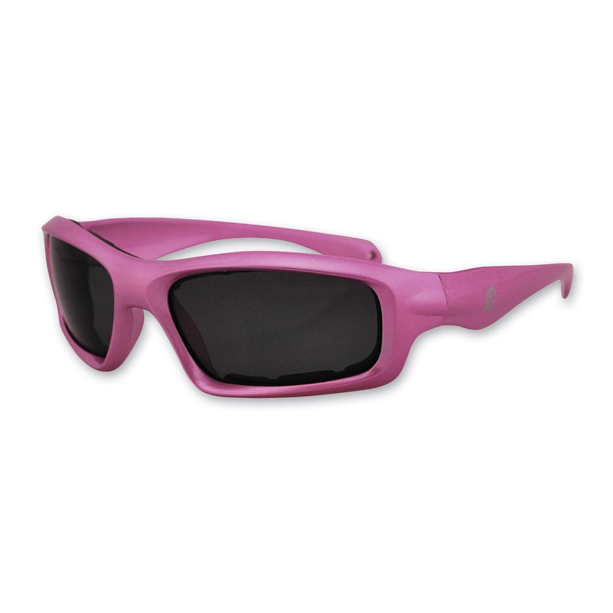 ZAN headgear Seattle Metallic Pink Sunglasses with Smoked Lenses