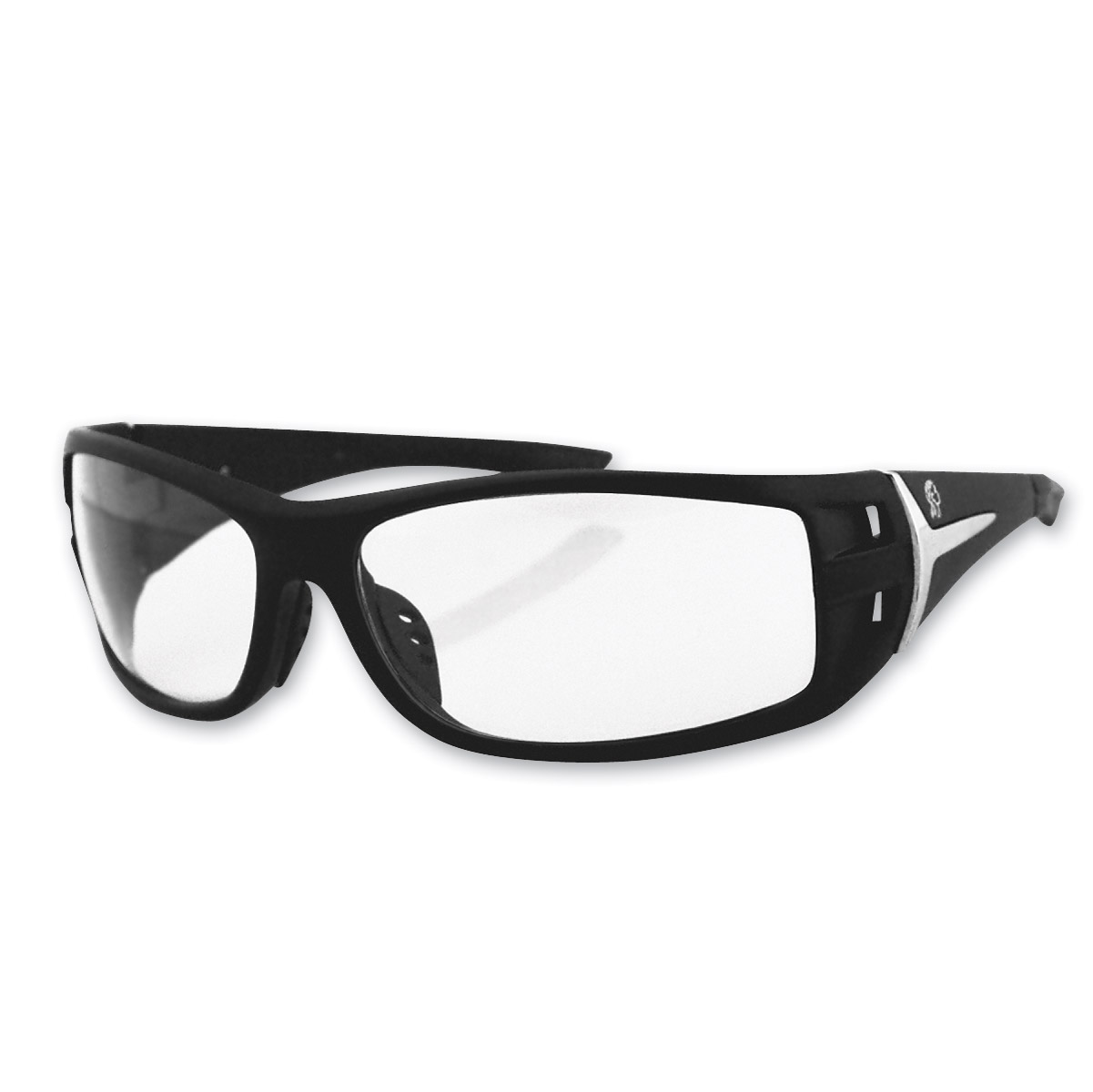 ZAN headgear Idaho Black Sunglasses with Clear Lenses