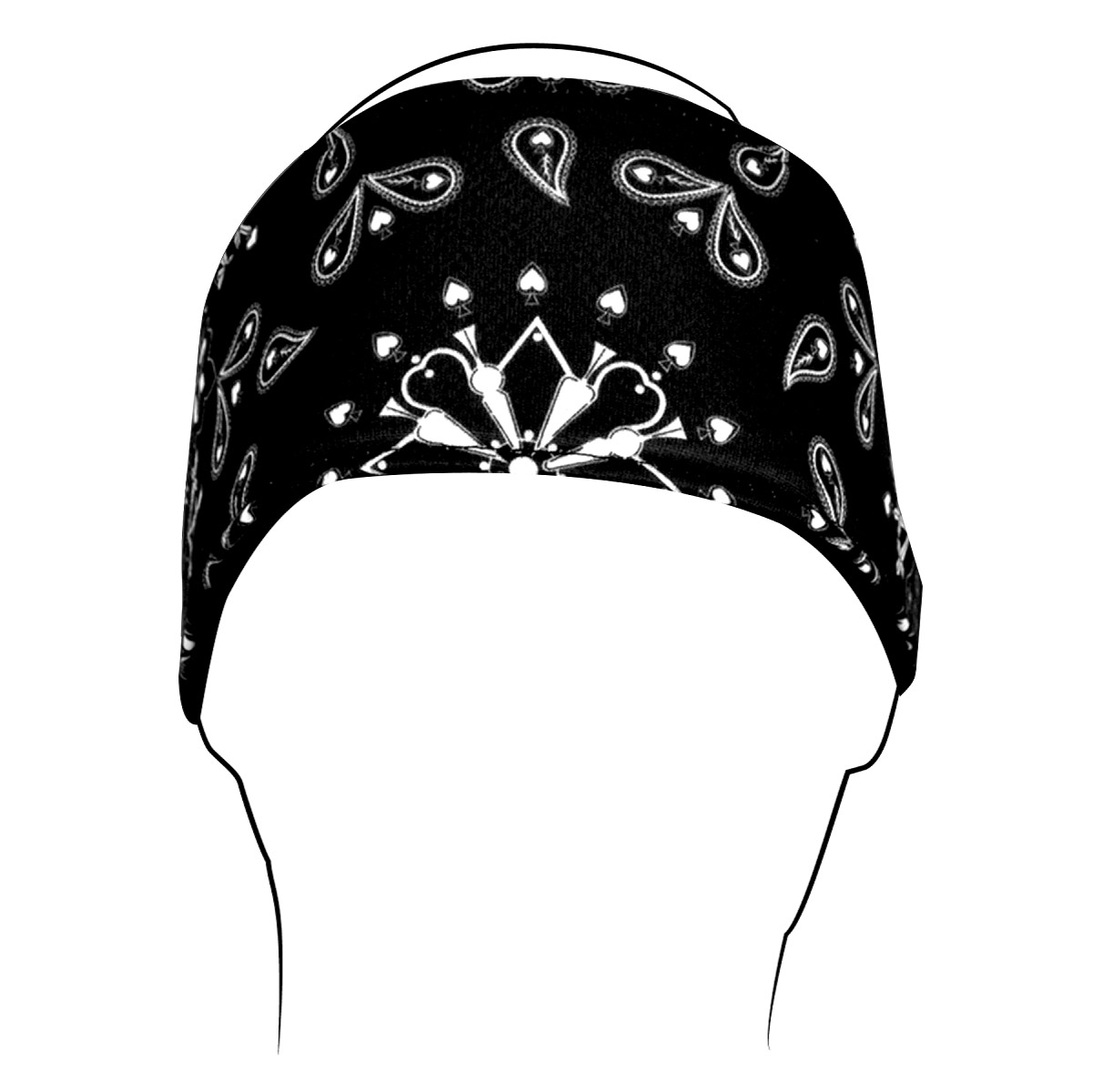 ZAN headgear Black Paisley Headband