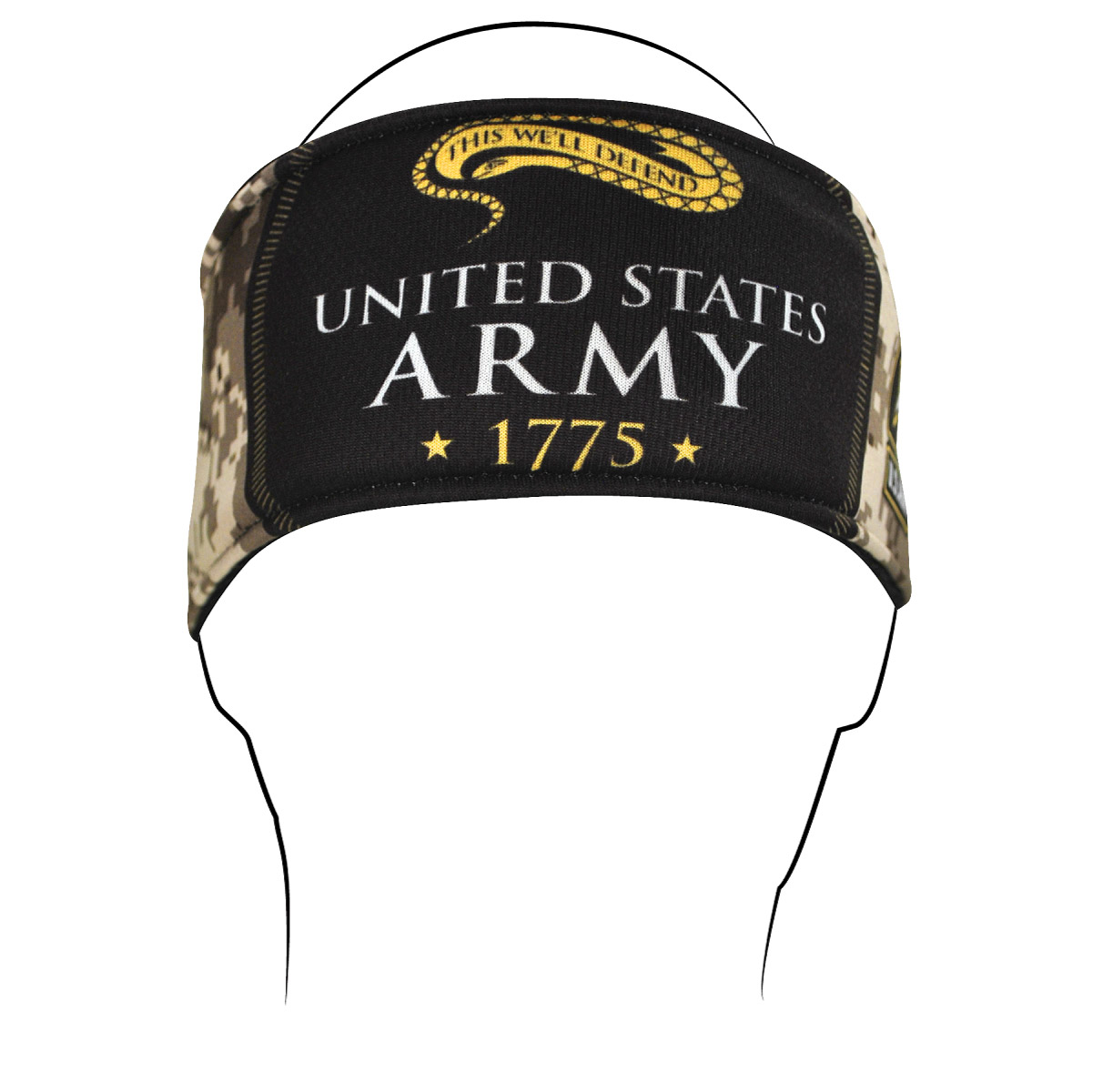 ZAN headgear U.S. Army, Camo Logo Headband