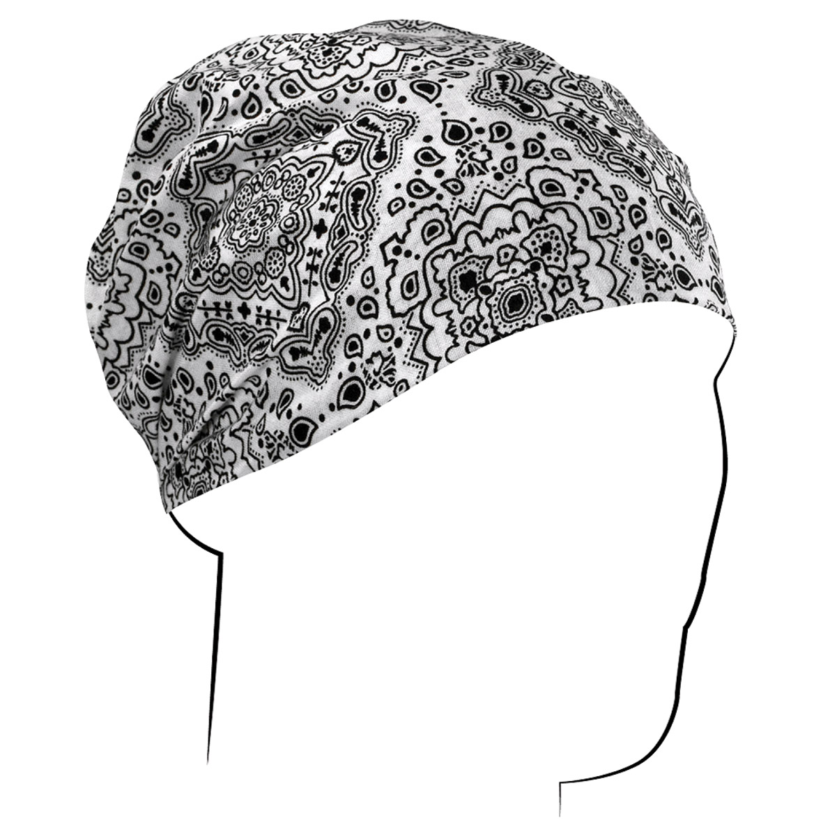 ZAN headgear White Paisley Headwrap