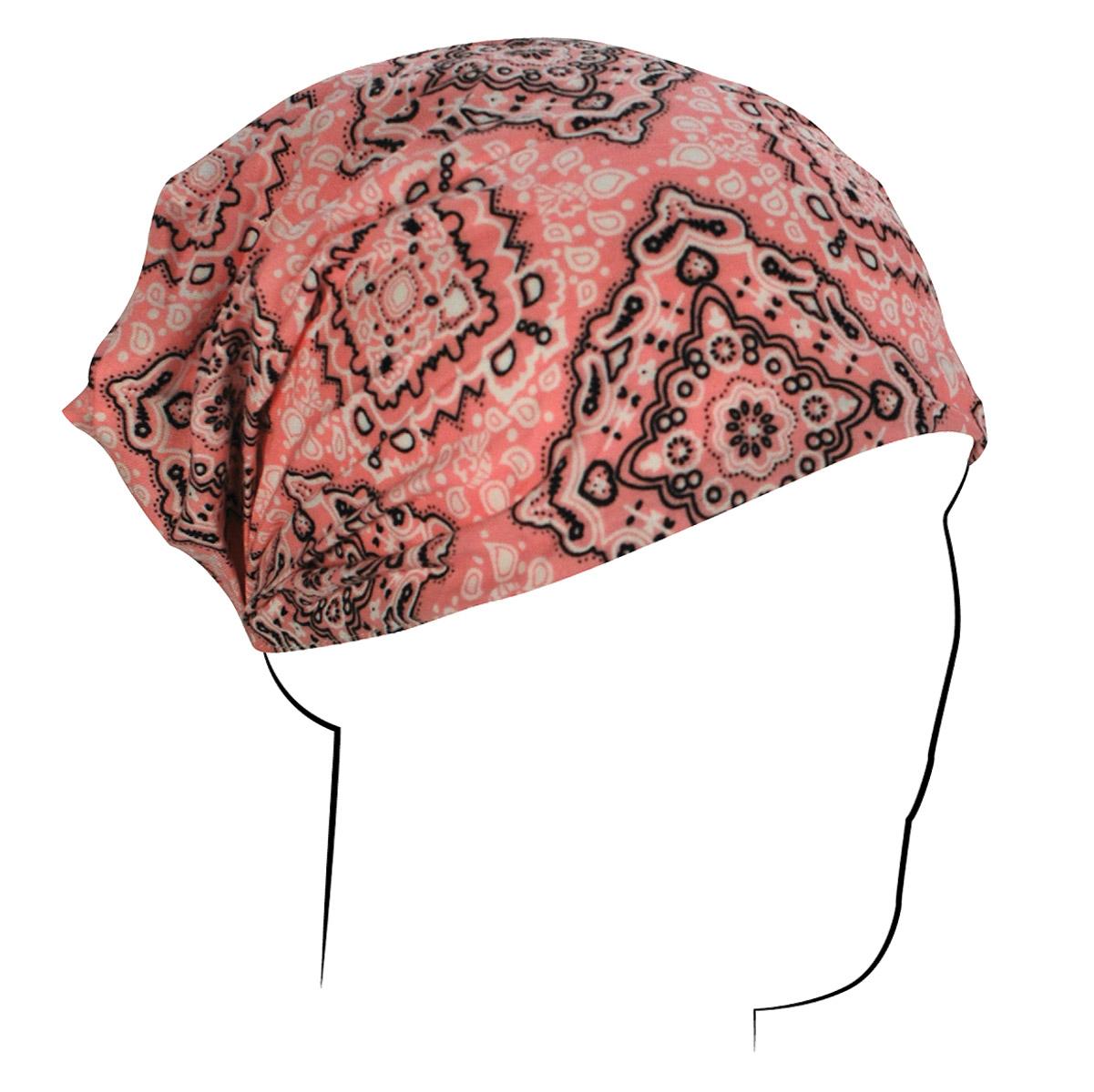 ZAN headgear Pink Paisley Headwrap