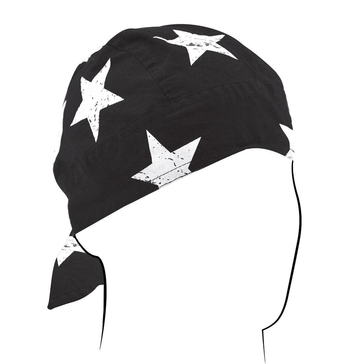 ZAN headgear Black and White Vintage American Flag Flydanna Headwrap