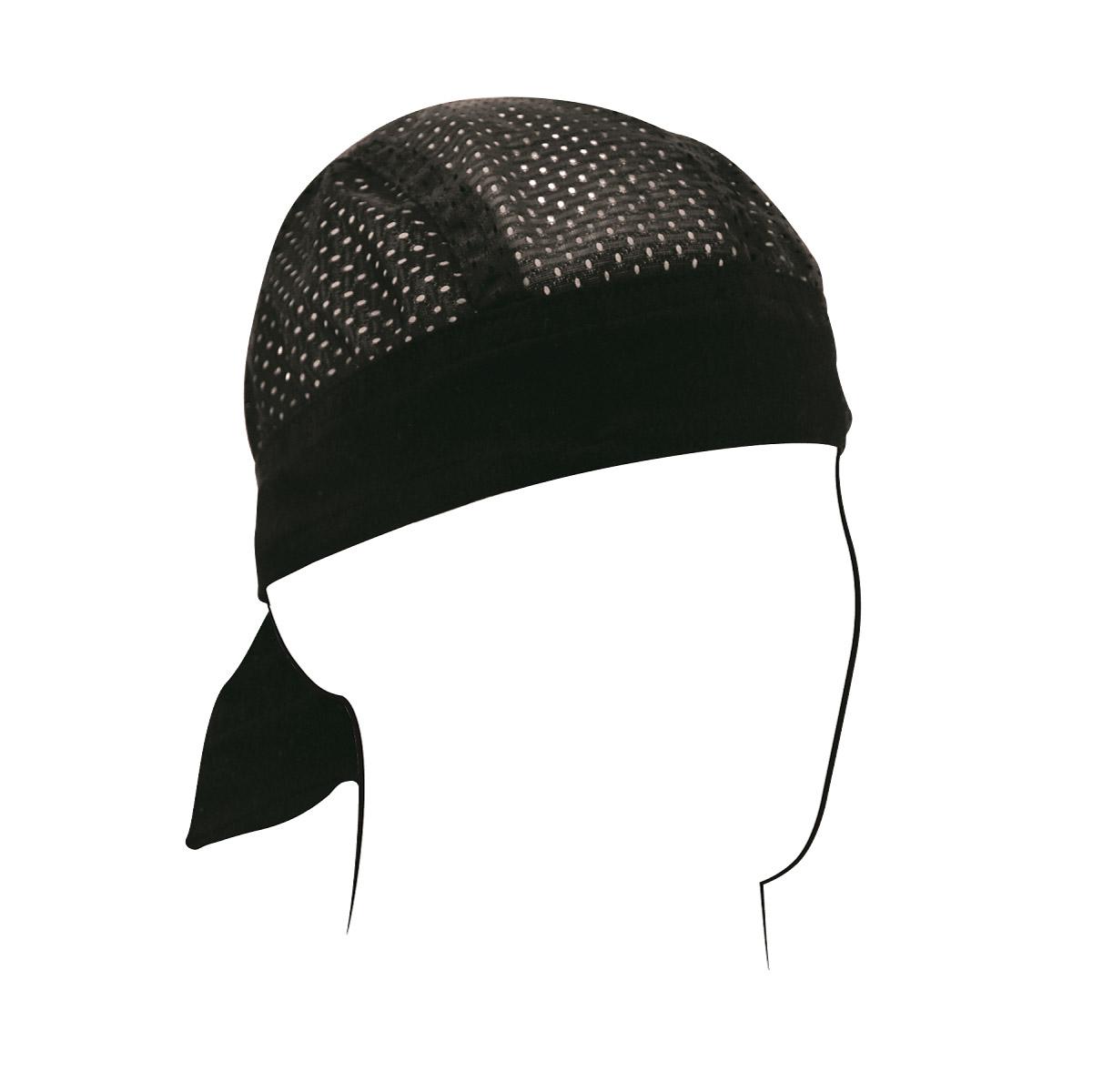 ZAN headgear Black Vented Sport Flydanna Headwrap
