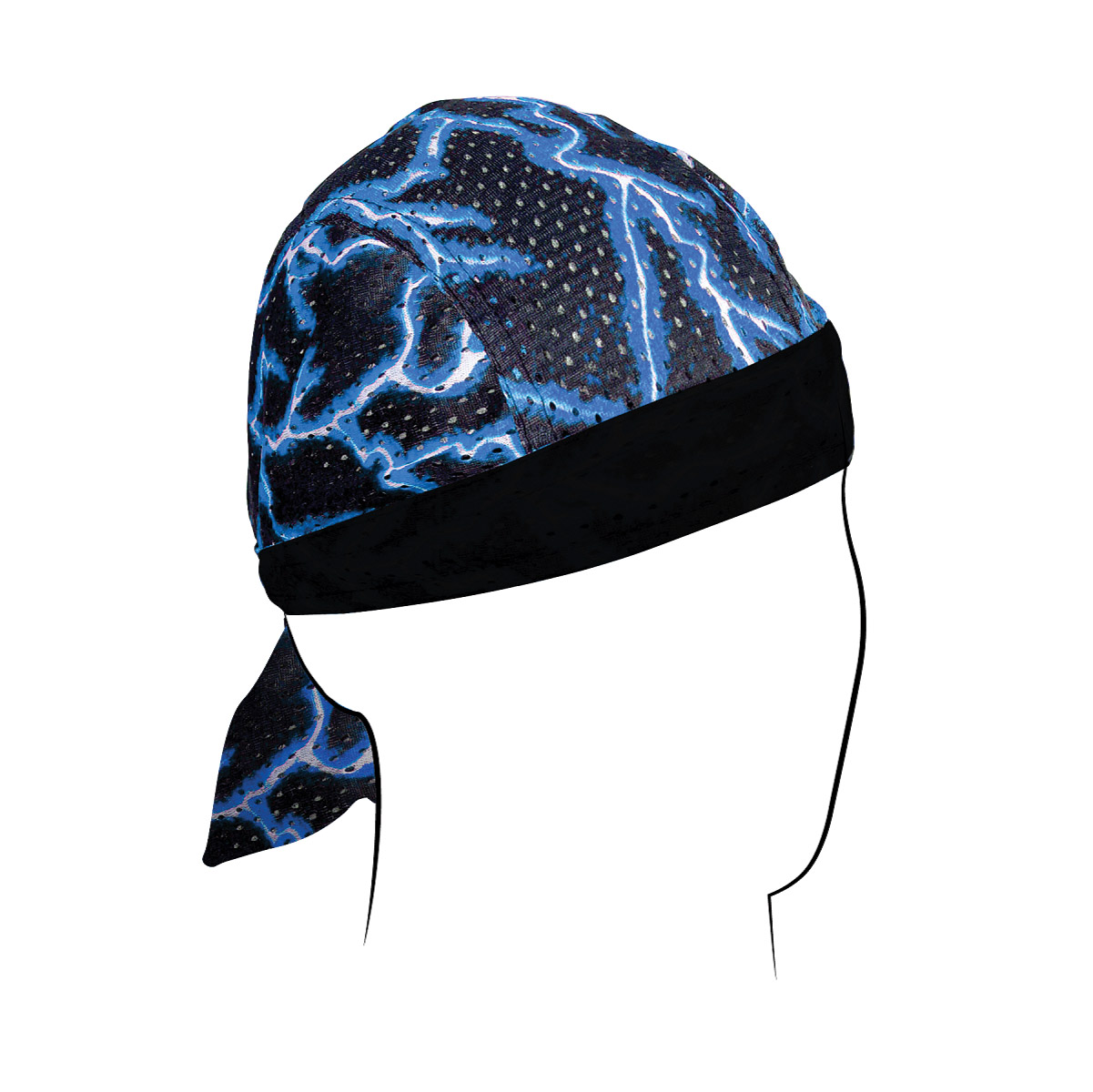 ZAN headgear Blue Lightning Vented Flag Flydanna Headwrap