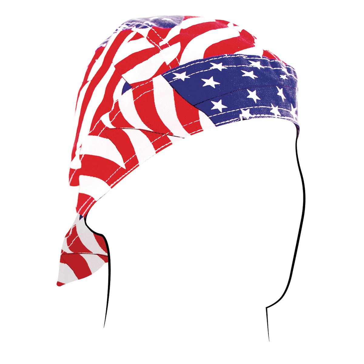 ZAN headgear Road Hog Flydanna Wavy American Flag
