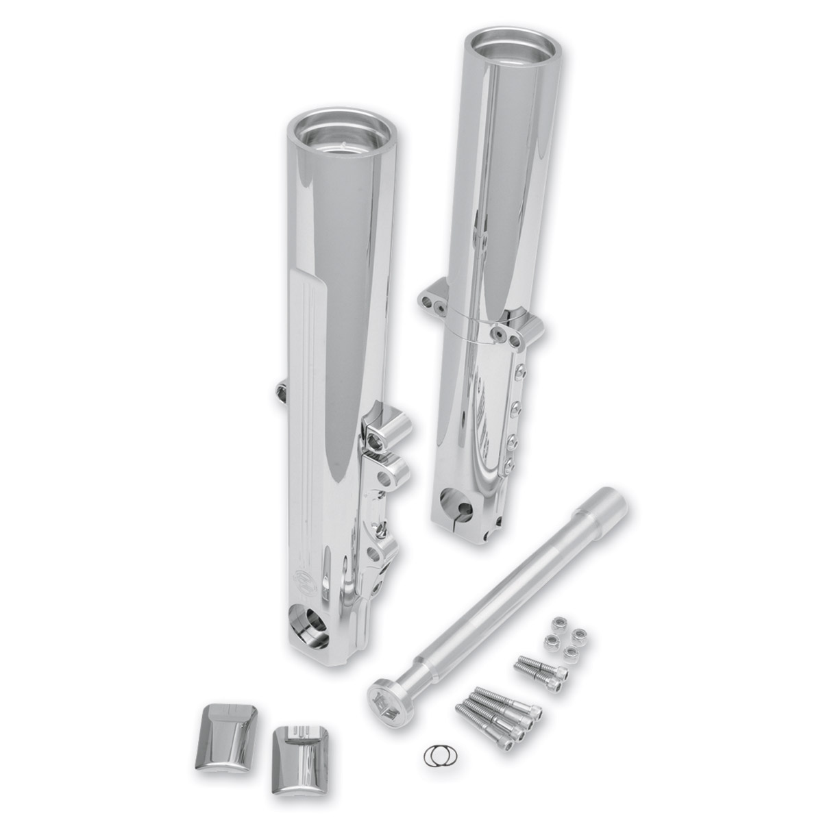 Performance Machine Chrome Lower Leg Assembly with Single Radial Caliper Mount