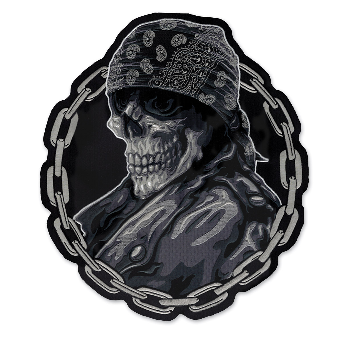 Lethal Threat Bandana Biker From Hell Embroidered Patch