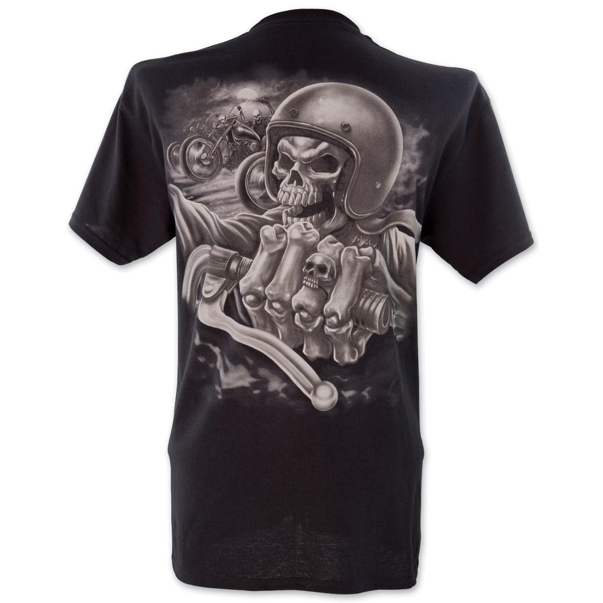 Lethal Threat Skull Crew Black T Shirt 161 508 J P Cycles