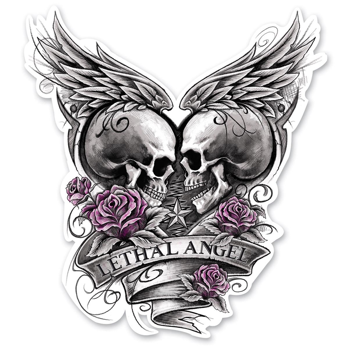 Lethal Threat Rude & Crude Eternal Love Mini Decal