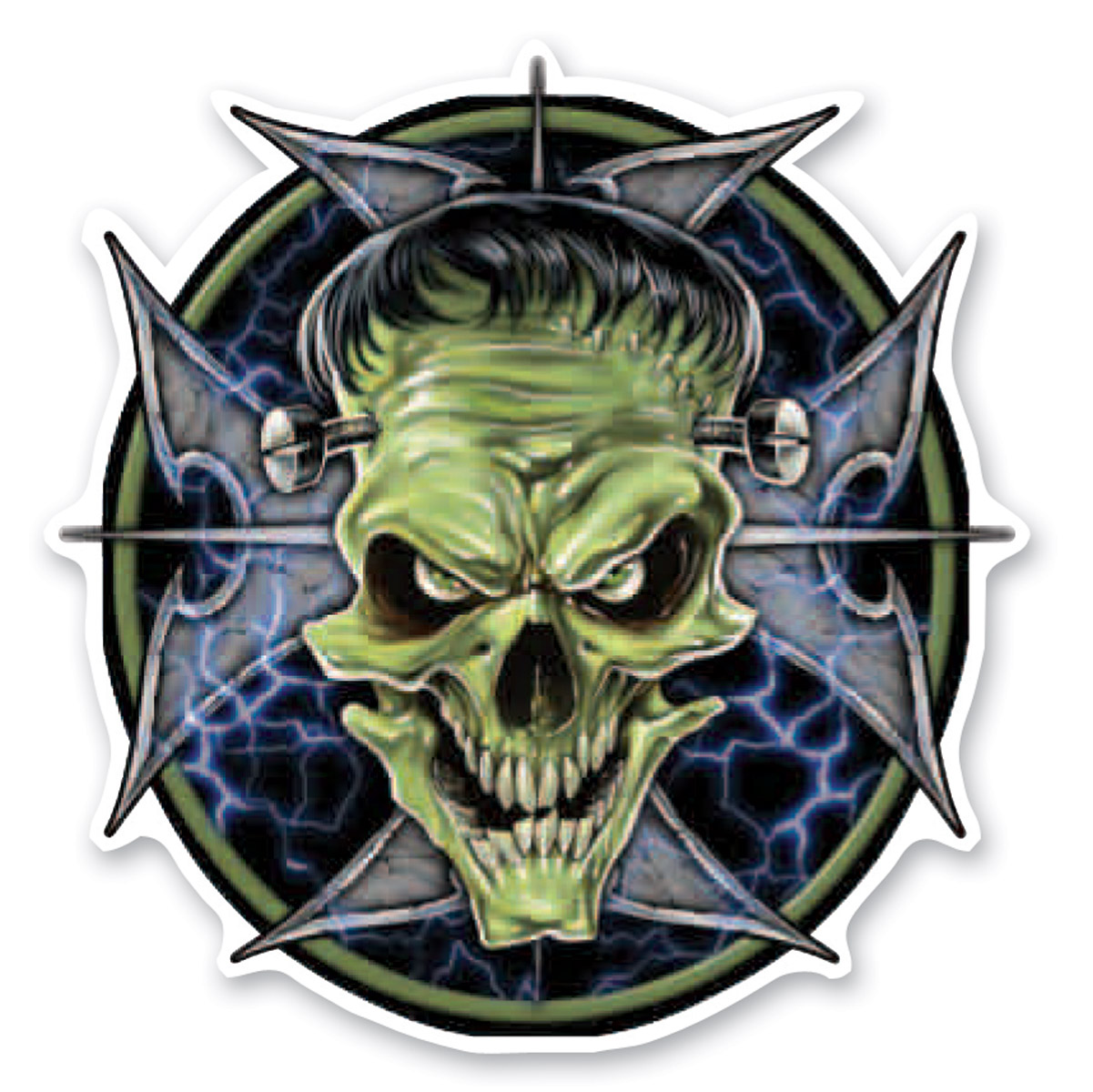 Lethal Threat Rude & Crude Frankie Skull Mini Decal