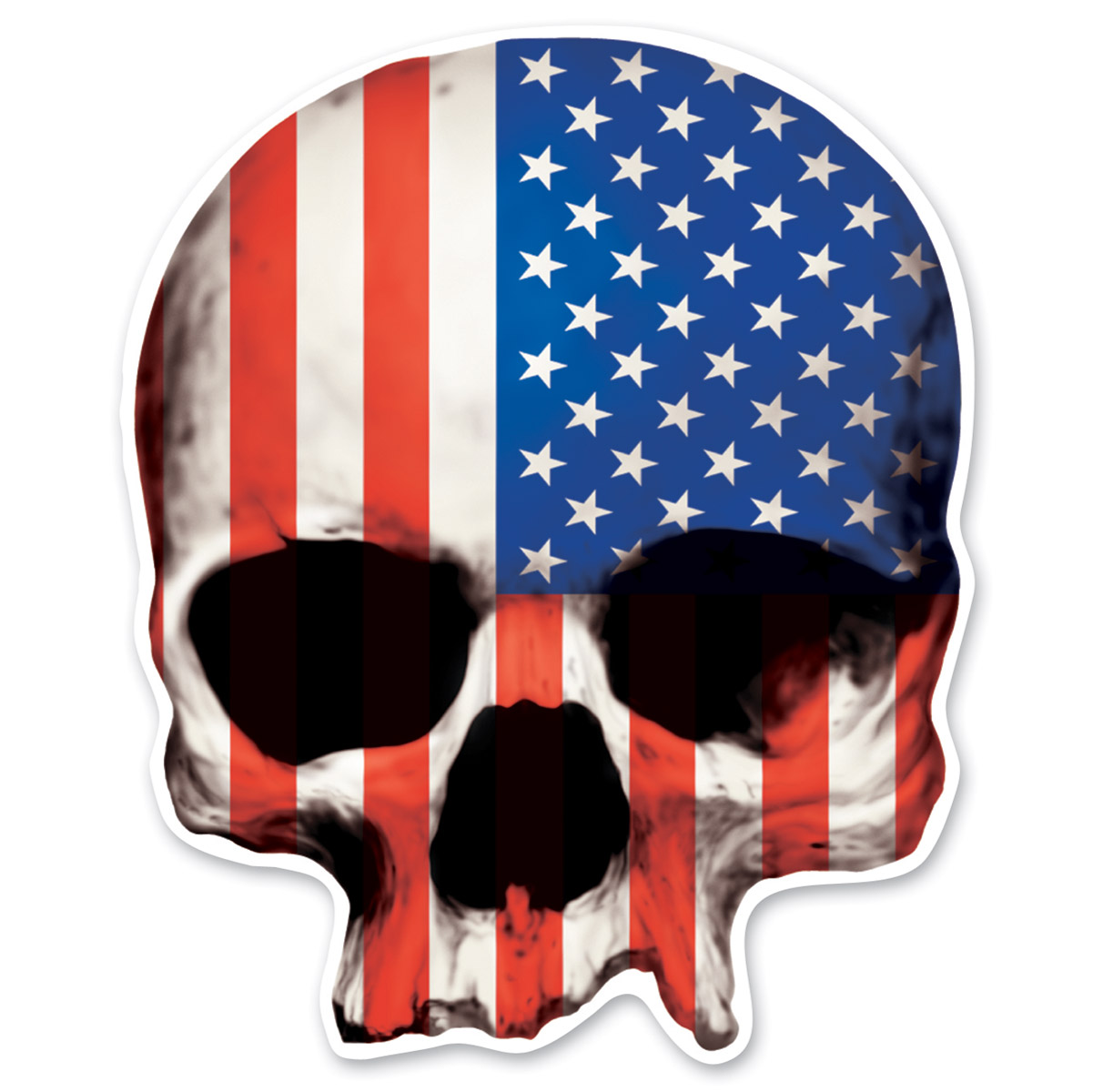 Lethal Threat Rude & Crude USA Skull Mini Decal