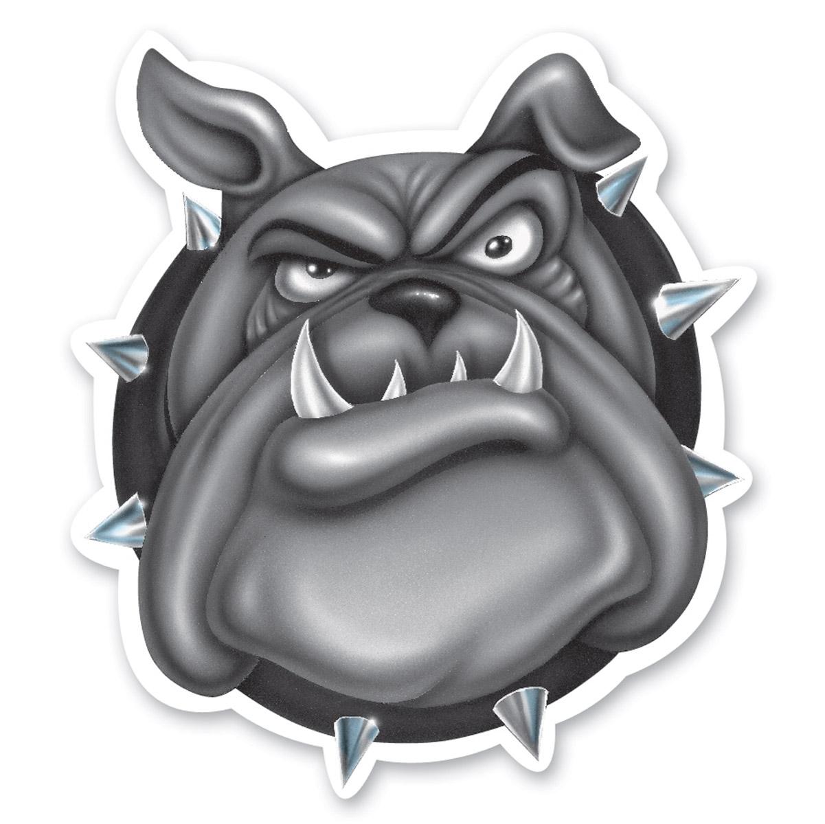 Lethal Threat Rude & Crude Bulldog Airbrushed Mini Decal