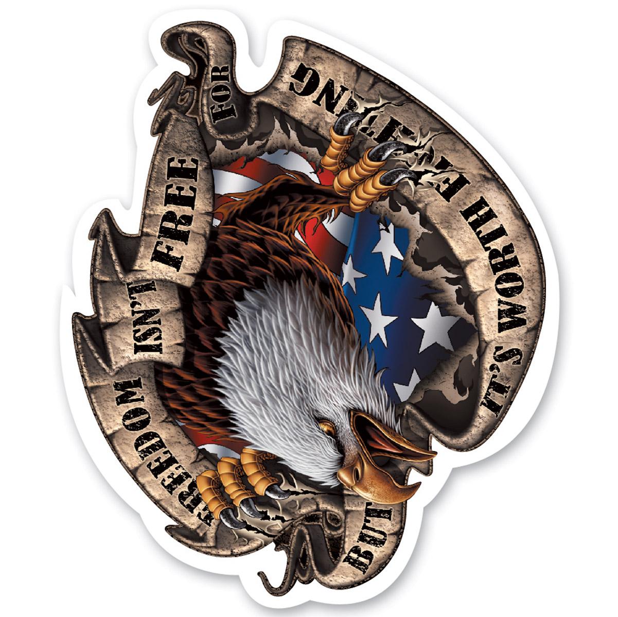 Lethal Threat Rude & Crude Freedom Eagle Mini Decal