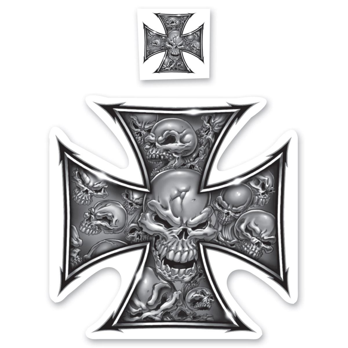 Lethal Threat Rude & Crude Iron Cross Mini Decal