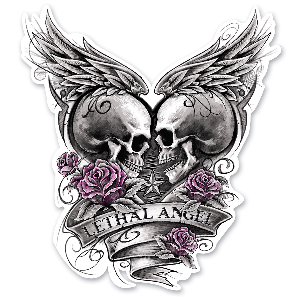 Lethal threat eternal love decal 161 589 j amp p cycles
