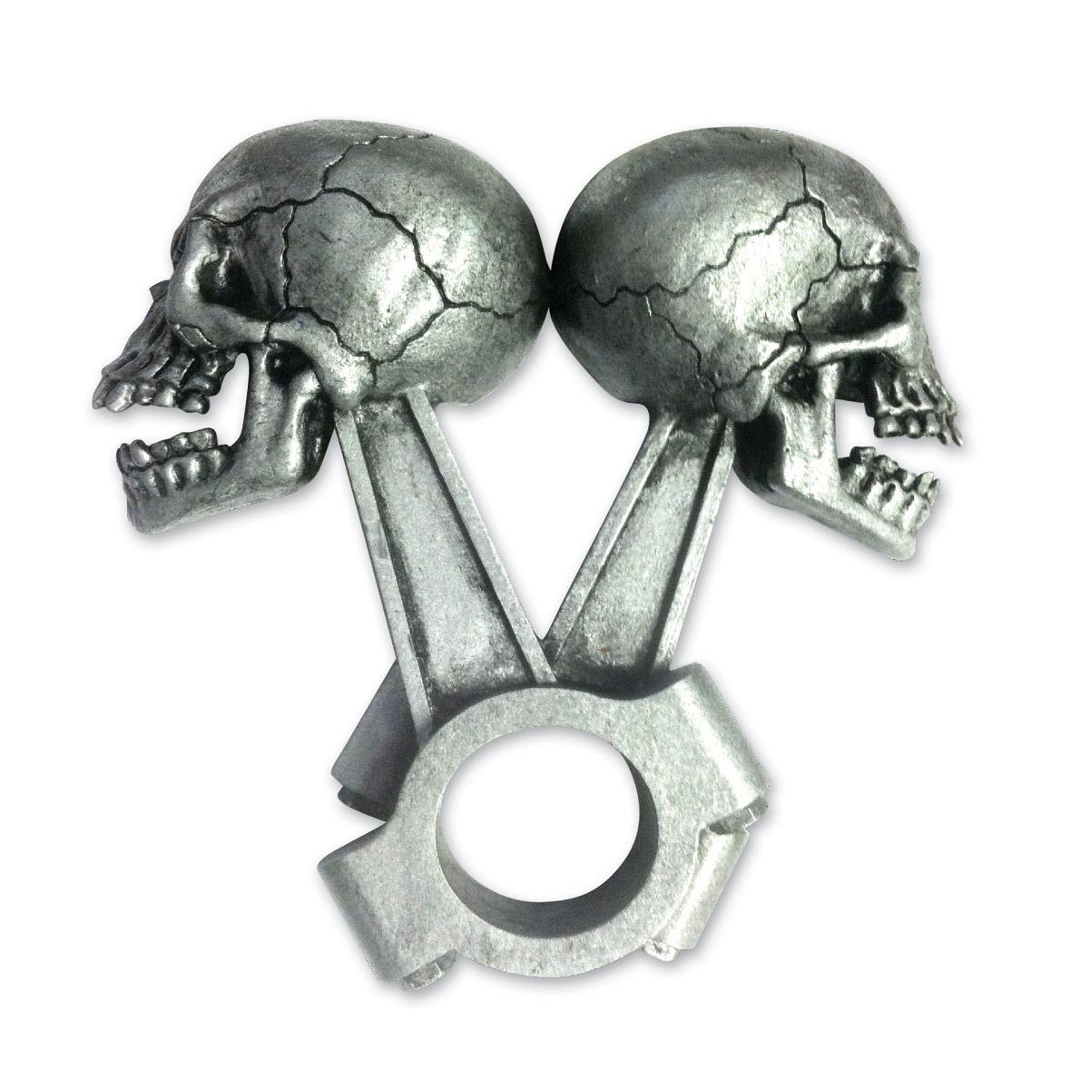 Lethal Threat Piston Skull 3-D Emblem