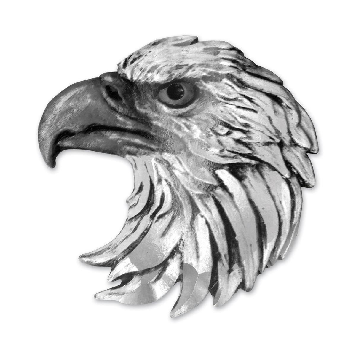 Lethal Threat Eagle Head 3-D Emblem