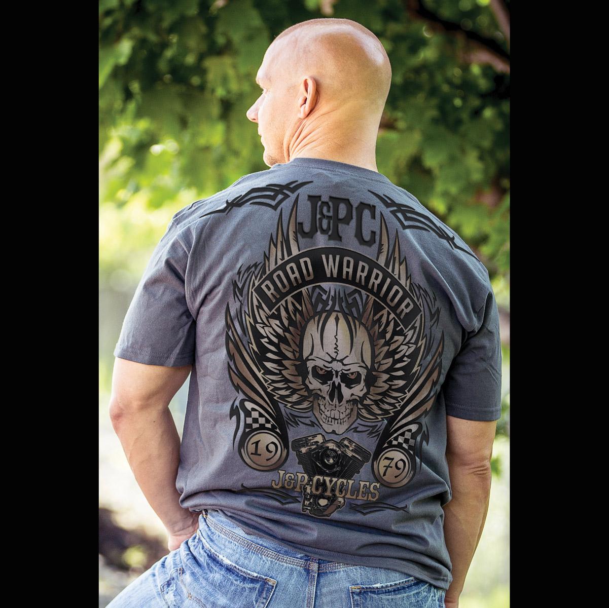 J&P Cycles® Skull Rebuild Charcoal T-Shirt