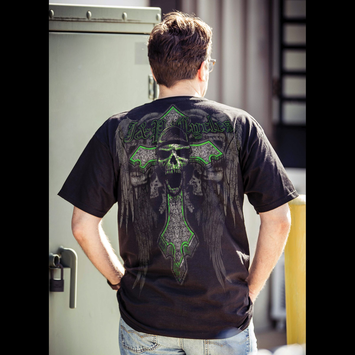 J&P Cycles® Men's Angel of Death Black T-Shirt