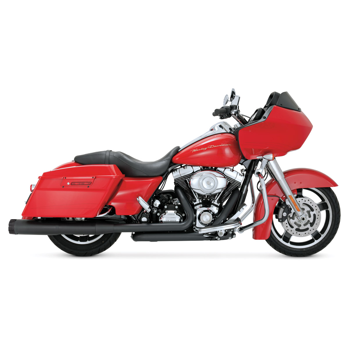 Vance & Hines Hi Output Slip Ons Black with Carbon End Caps