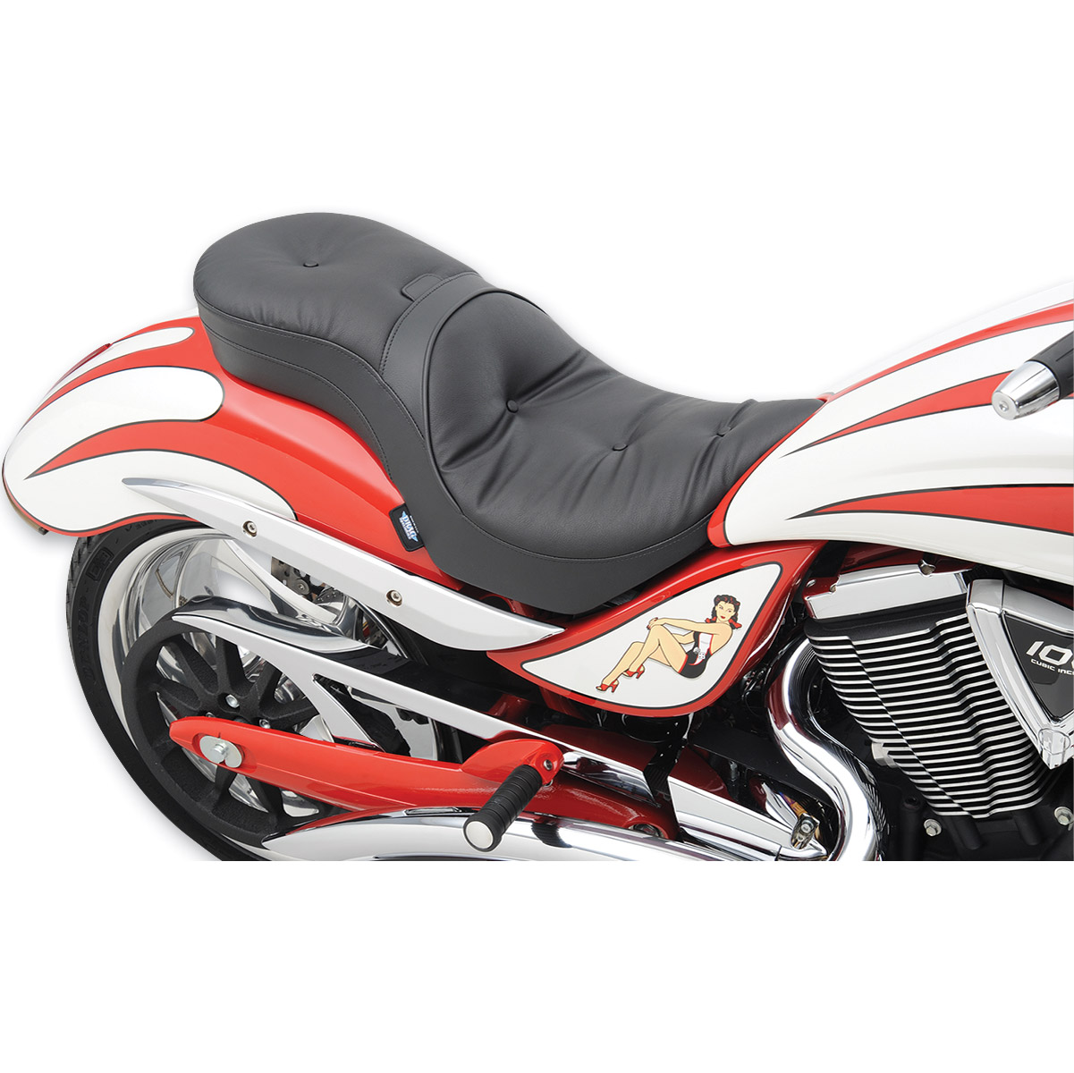 Drag Specialties Low-Profile Pillow Touring Seat
