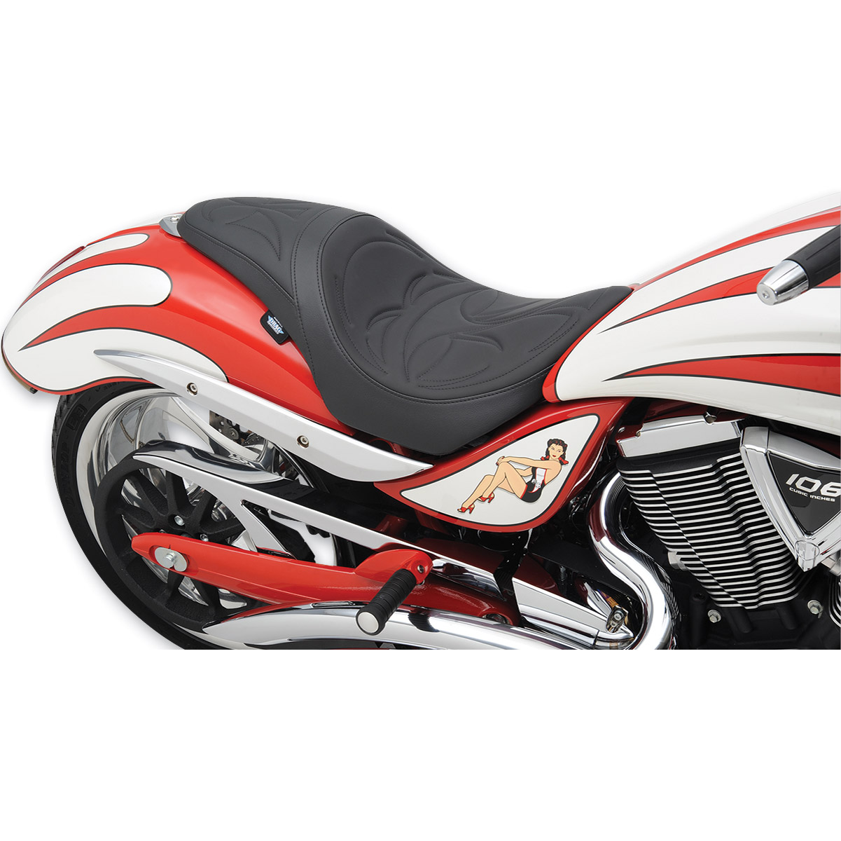 Drag Specialties Predator 1-Up Crusade Seat
